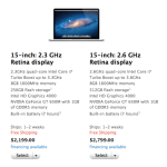 [Apple] MacBook Pro Retina Display Shipping Improves