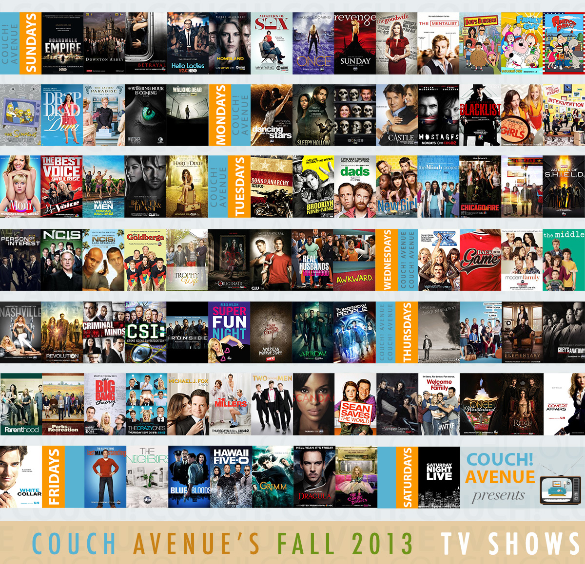 Couch Avenue Fall TV 2013