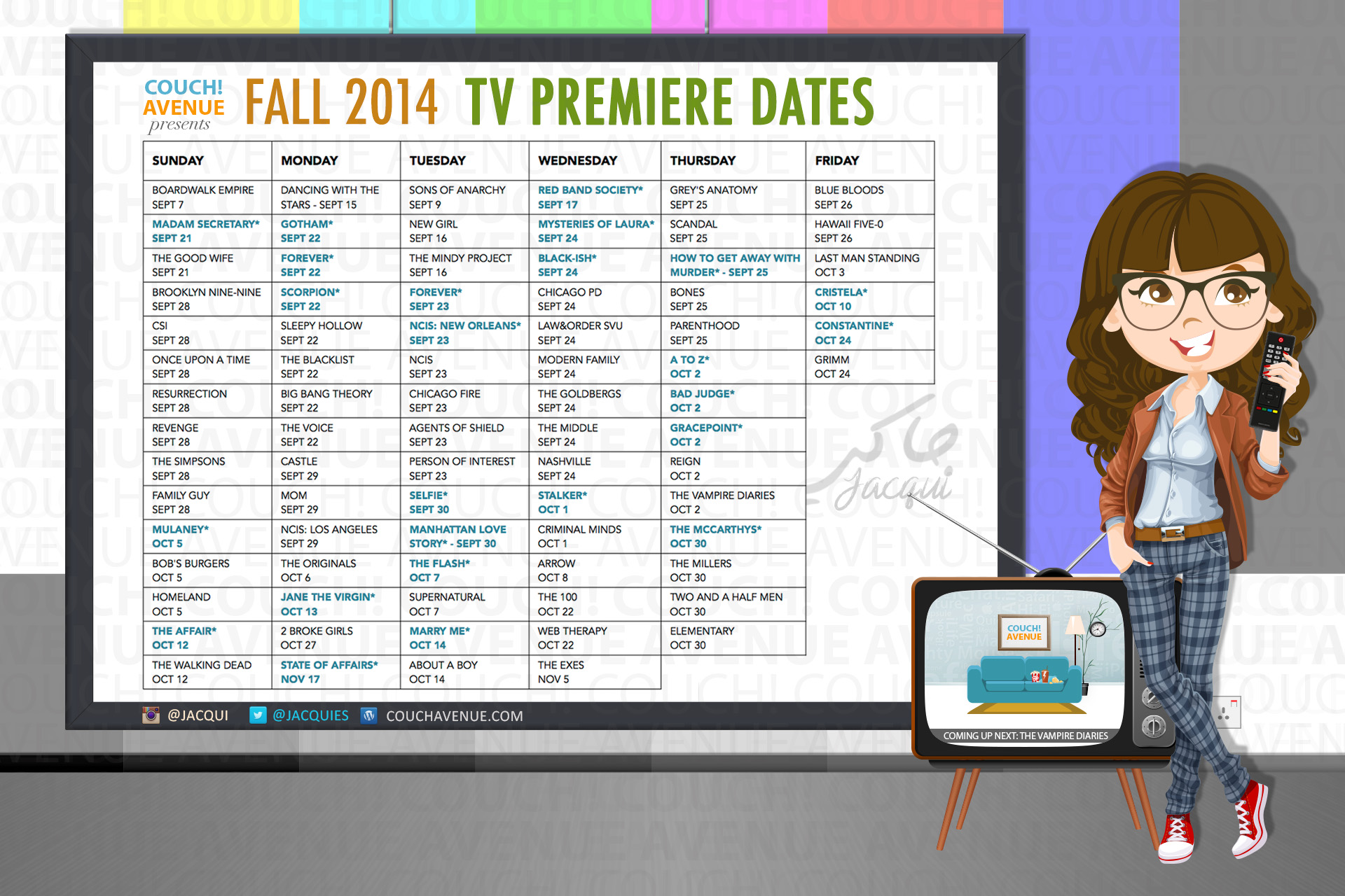 The New Fall 2014 Tv Show Premiere Dates List Jacqui