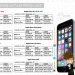 [Apple] iPhone 6 & iPhone 6 Plus Price List